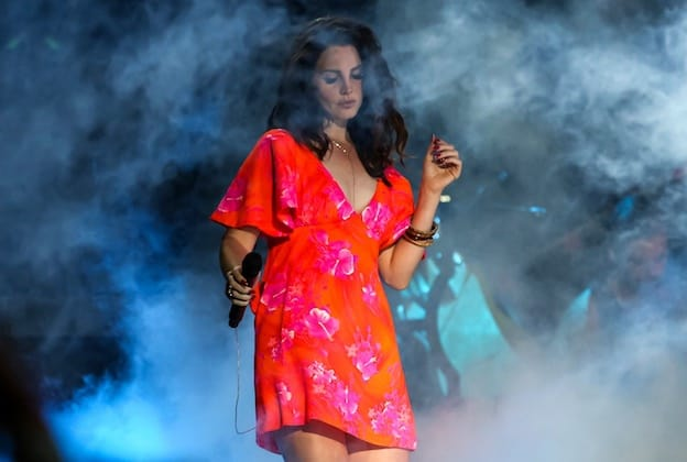 INDIO, CA - APRIL 13: Singer Lana Del Rey performs at the Coachella Valley music and arts festival at The Empire Polo Club on April 13, 2014 in Indio, California. (Photo by Chelsea Lauren/WireImage)