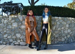 Styled – Two Different Colored Long Kimonos
