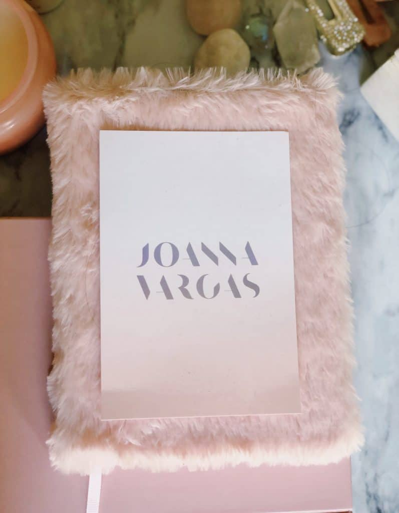 Joanna Vargas Pink Fluffy Journal